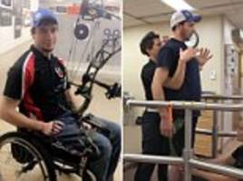world first as three paralyzed people walk again:  after implant was fitted in their spines