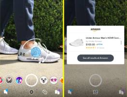 snapchat's latest tool lets users point their cameras at products and buy them on amazon (snap, amzn)
