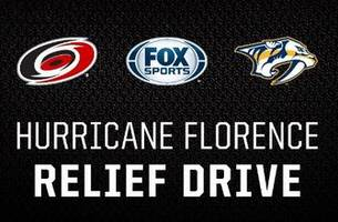 FOX Sports Carolinas, FOX Sports Tennessee, Carolina Hurricanes & Nashville Predators team up for Hurricane Florence relief efforts