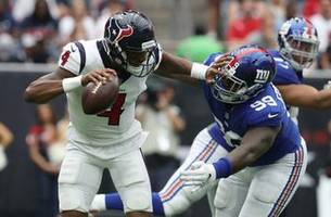 Manning throws 2 TDs as Giants beat Texans 27-22 for 1st win
