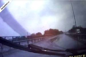 watch terrifying moment bmw driver crashes on a52 in heavy rain
