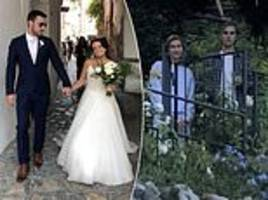 Justin Bieber and new fiancé Hailey Baldwin watch couple's wedding
