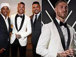 sergio ramos does his best james bond impression at fifa best awards