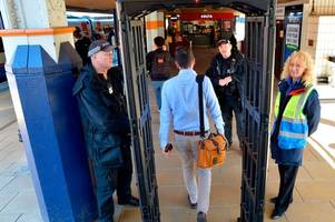 Why is there a metal detector at Leicester station? Police reveal reason for black arch