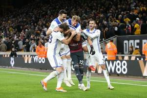 Danny Ward the hero as Leicester City beat Wolves on penalties in a Carabao Cup win marred by injury to Demarai Gray