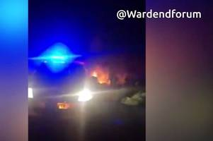 Firefighters tackle fierce fire near Ward End Park which was 'started deliberately'