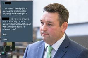 tory msp miles briggs cleared over sexual harassment claims but apologised to woman involved