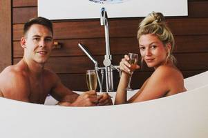 inside liam williams' luxury five-star barbados trip with his model girlfriend