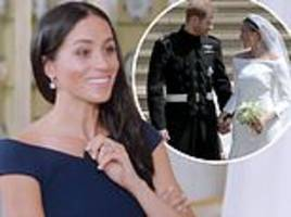 meghan markle's wedding day something blue  in queen of the world documentary leaves fans gushing
