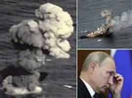 putin tests blowing up warships with his new missile in latest video showing off military might