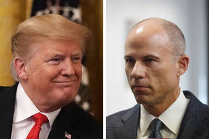 trump, avenatti trade barbs after new kavanaugh accusation: 'total low-life' vs 'habitual liar'
