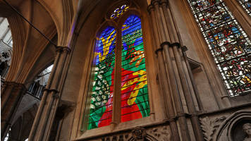 hockney's stained glass window tribute to queen revealed
