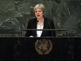theresa may tells world leaders brexit was not a 'rejection of multilateralism'