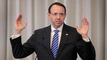meeting about rosenstein's fate trump's doj gets pushed back
