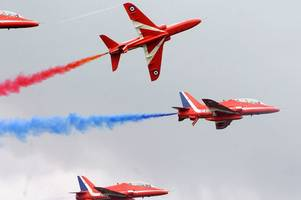 theresa may speaks out on the future of the red arrows in lincolnshire