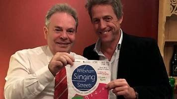 hugh grant backs wrexham's streets singing festival