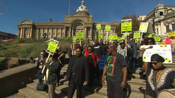 windrush 'funeral march' protest held in birmingham