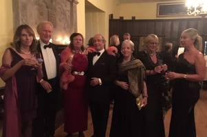 glitzy night raises funds for marie curie at bickleigh castle
