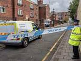 police arrest man, 32, on suspicion of murder after woman is stabbed to death