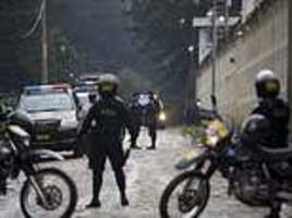 at least seven dead in guatemala prison riot as inmates go on shooting rampage