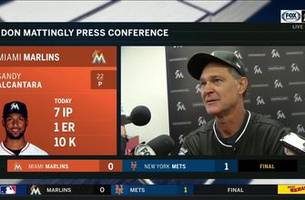 don mattingly on alcantara's 10-strikeout performance,1-0 loss to mets