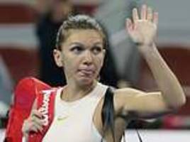 halep doubtful for wta finals after world no 1 suffers back injury