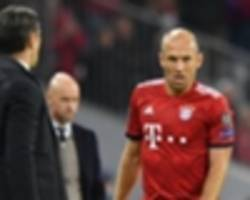 robben on bayern's winless run: 'things don't go wrong in a week'
