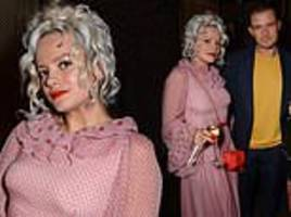 lily allen stuns in pink gown as she joins cara delevingne at amazon prime video party
