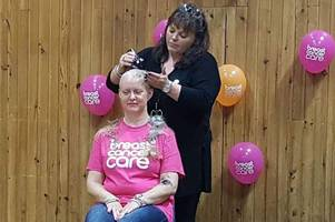 parent and school raise over £1200 for cancer charities as mum braves the shave