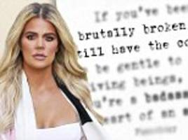 khloe kardashian hints not all is great with cheating tristan thompson