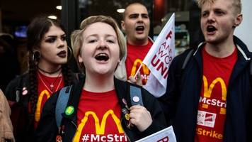 why staff at mcdonald's, tgis and wetherspoons are striking