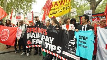 mcdonald's, ubereats and wetherpoon workers strike over pay