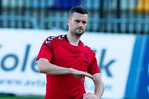 rangers star jamie murphy provides injury update as he returns to ibrox for first time since being crocked
