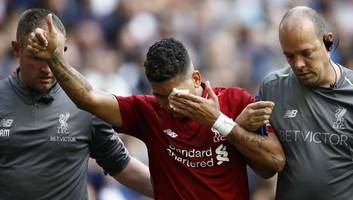roberto firmino admits he feared going blind & reveals pain of freak eye injury against tottenham
