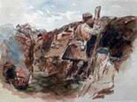 World War One captain's paintings of the Western Front could fetch £4k