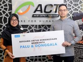 vivo indonesia together with aksi cepat tanggap donate for palu and donggala disaster victims