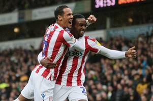 norwich city 0, stoke city 1: magnificent sevens all over the place but this pair rated even higher