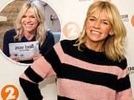 zoe ball quits itv weekend chat show after replacing chris evans as bbc radio 2 breakfast show host