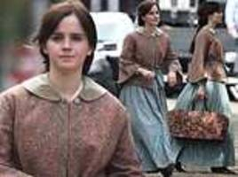 emma watson pictured on set of the little women remake