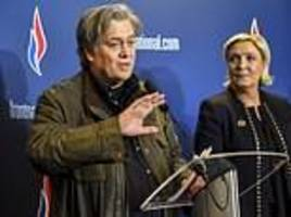 French far-right leader Marine Le Pen distances herself from White House strategist Steve Bannon