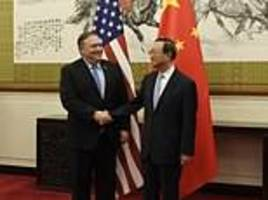 pompeo spars with beijing over 'escalating trade friction' and 'groundless' claims