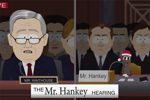 'south park' goes after brett kavanaugh hearing in episode with mr hankey on trial (video)
