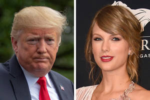 Trump Says He Likes Taylor Swift's 'Music About 25 Percent Less Now'