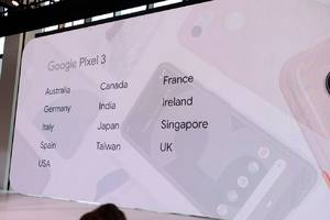 Pixel 3 will be available in more countries at launch