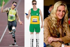 oscar pistorius 'blade gunner' halloween outfit sparks outrage as men dress up as murderer