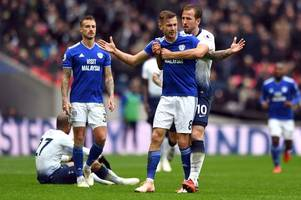 spurs star harry kane hits back at cardiff city boss neil warnock in row over joe ralls' red card