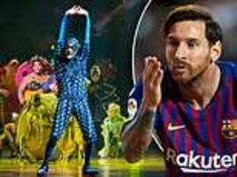 messi teams up with cirque du soleil to produce show about his life