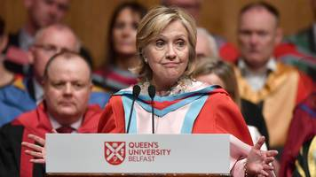 Hillary Clinton says NI deserves peace not paralysis