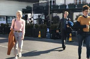 'alfie allen' spotted taking part in 'itv drama' filming at chelmsford pub