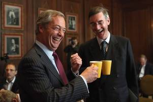 this is why jacob rees-mogg and nigel farage are going for a pint at wetherspoons